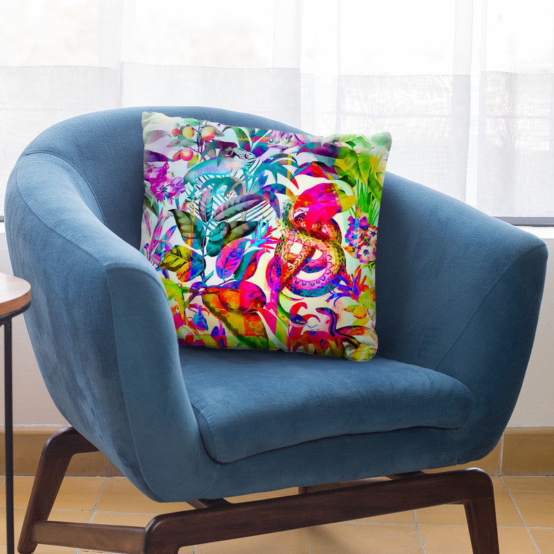 Colorful Jungle Art Throw Pillow By Andrea Haase