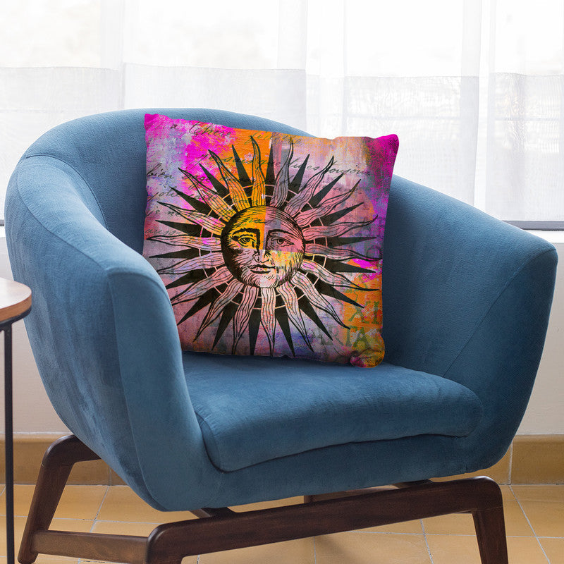 Colorful Sun Throw Pillow By Andrea Haase