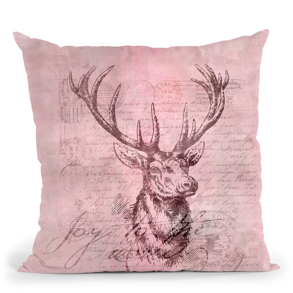 Deer Joy Throw Pillow By Andrea Haase