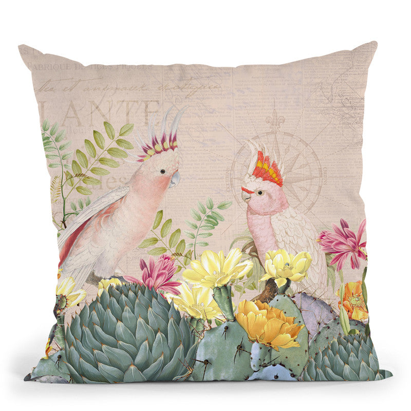 Desert Cockatoos Throw Pillow By Andrea Haase