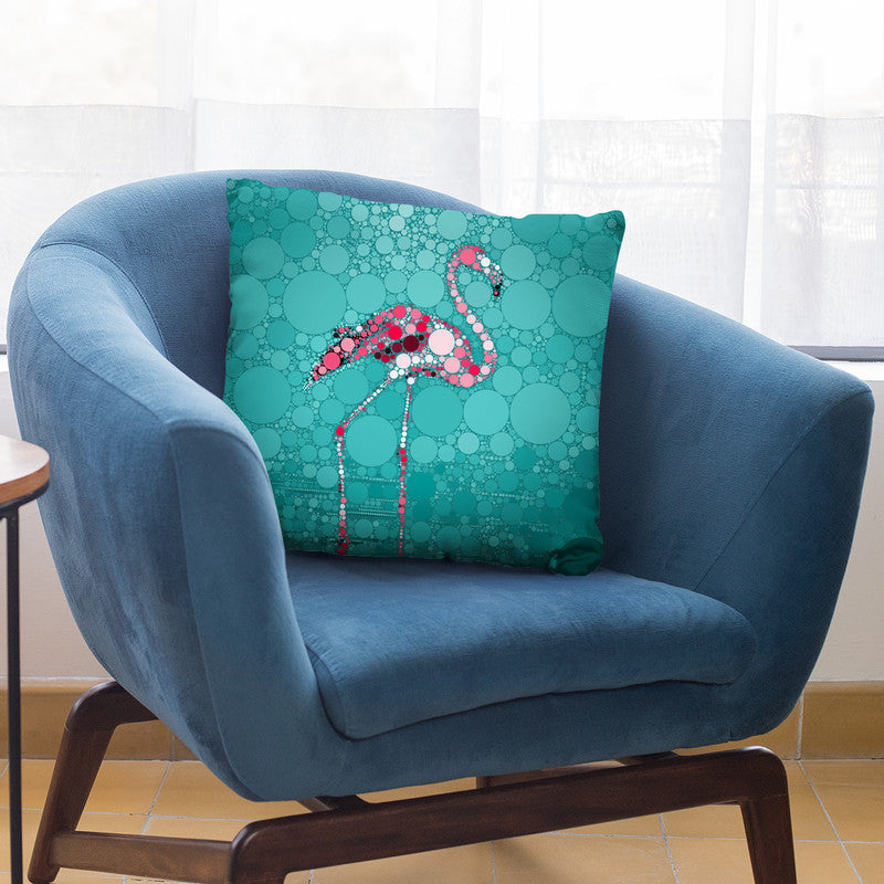 Dot Art Flamingo I Throw Pillow By Andrea Haase