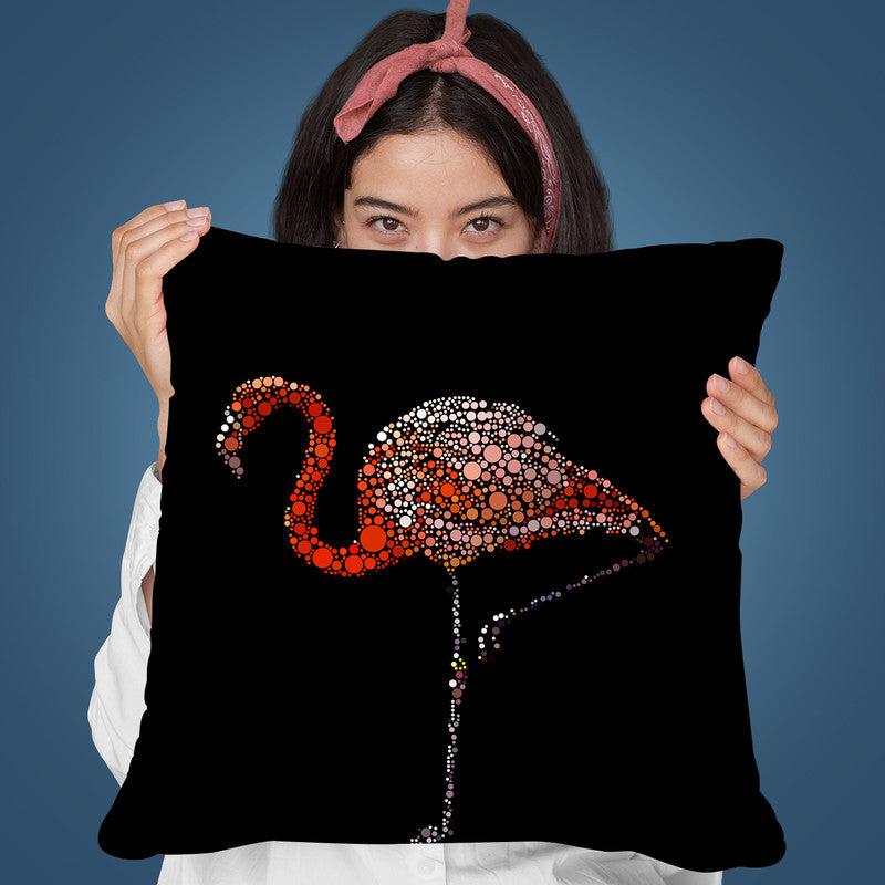 Dot Art Flamingo Throw Pillow By Andrea Haase