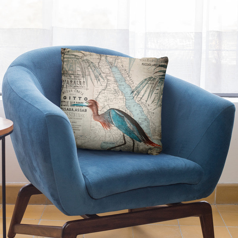 Egypt Heron Throw Pillow By Andrea Haase