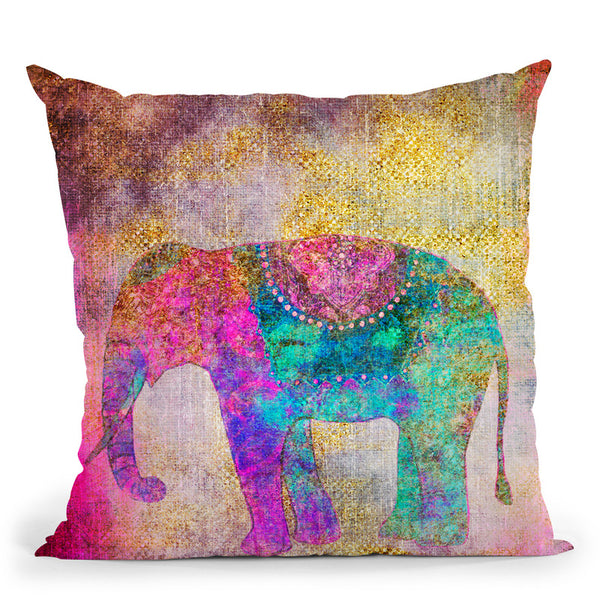 Elephant Artwork Throw Pillow By Andrea Haase