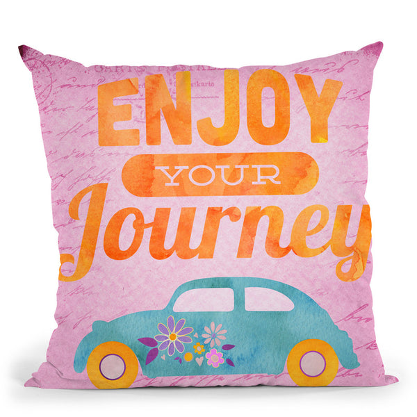 Enjoy Your Journey Throw Pillow By Andrea Haase
