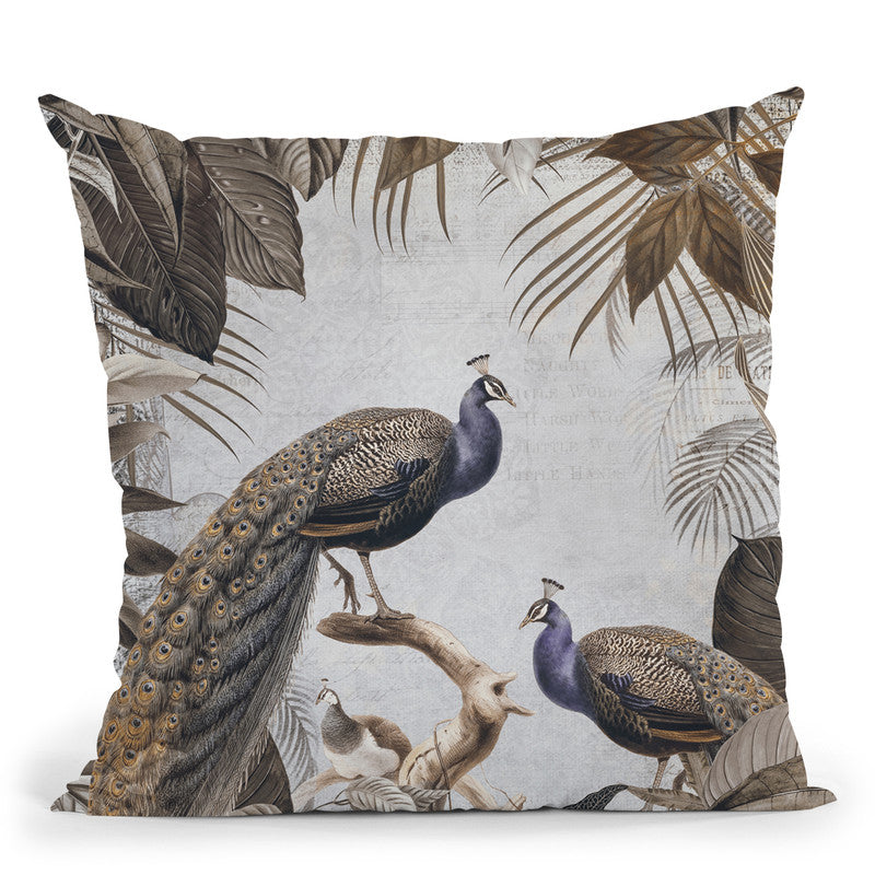 Fantastic Peacock I Throw Pillow By Andrea Haase