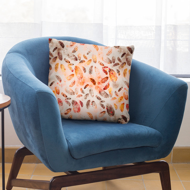 Federn Brown Orange Throw Pillow By Andrea Haase