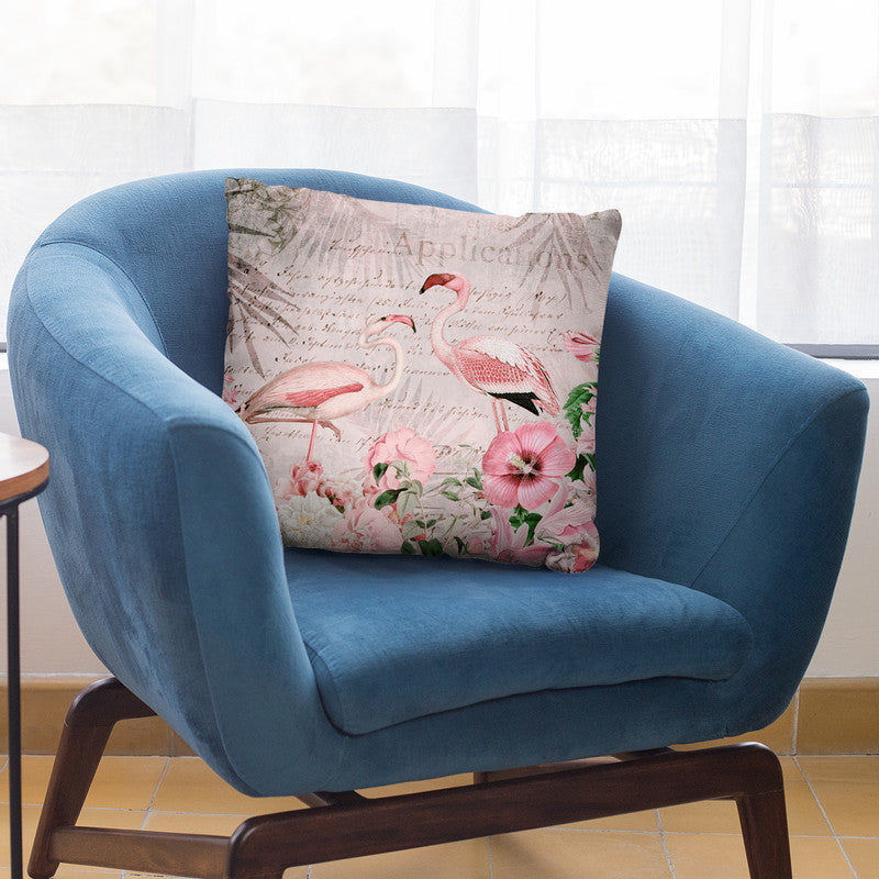 Flamingo Paradise Ii Throw Pillow By Andrea Haase