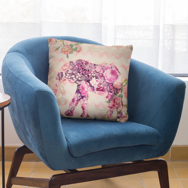 Flower Elephant I Throw Pillow By Andrea Haase