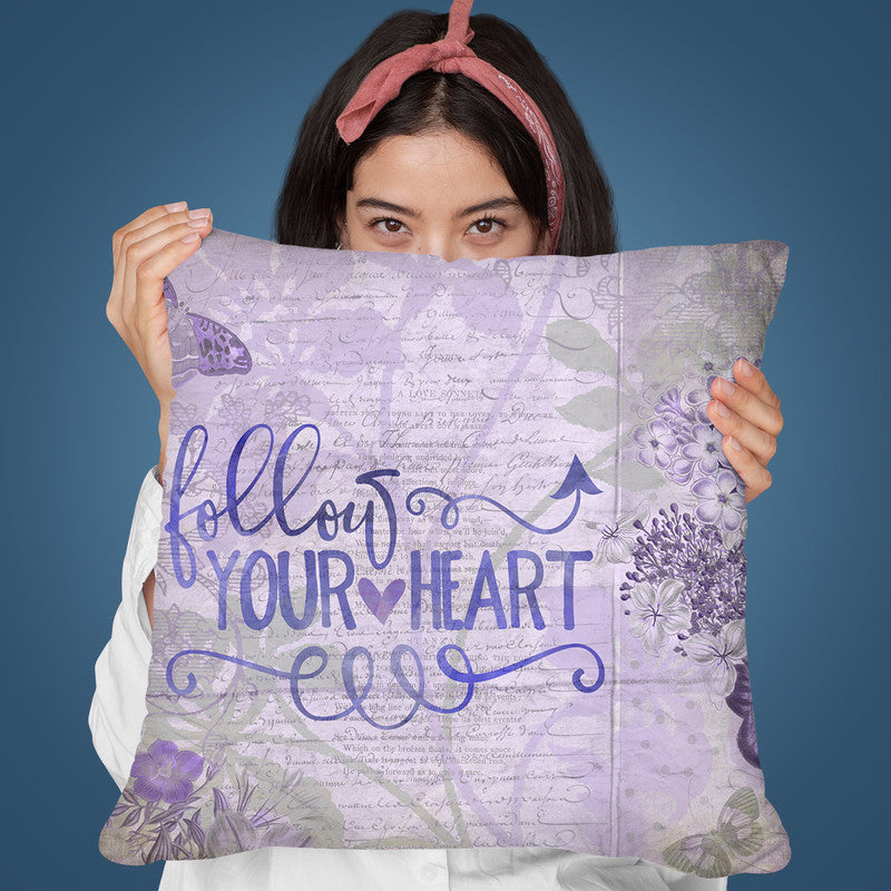 Follow Your Heart Throw Pillow By Andrea Haase
