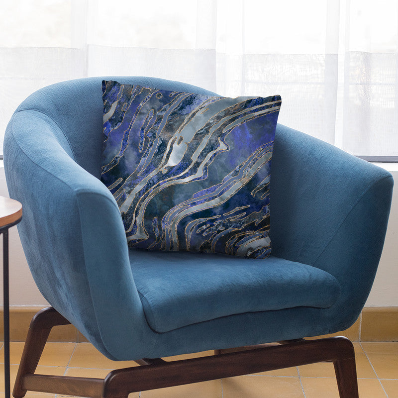 Gemstone Cold Blue Throw Pillow By Andrea Haase