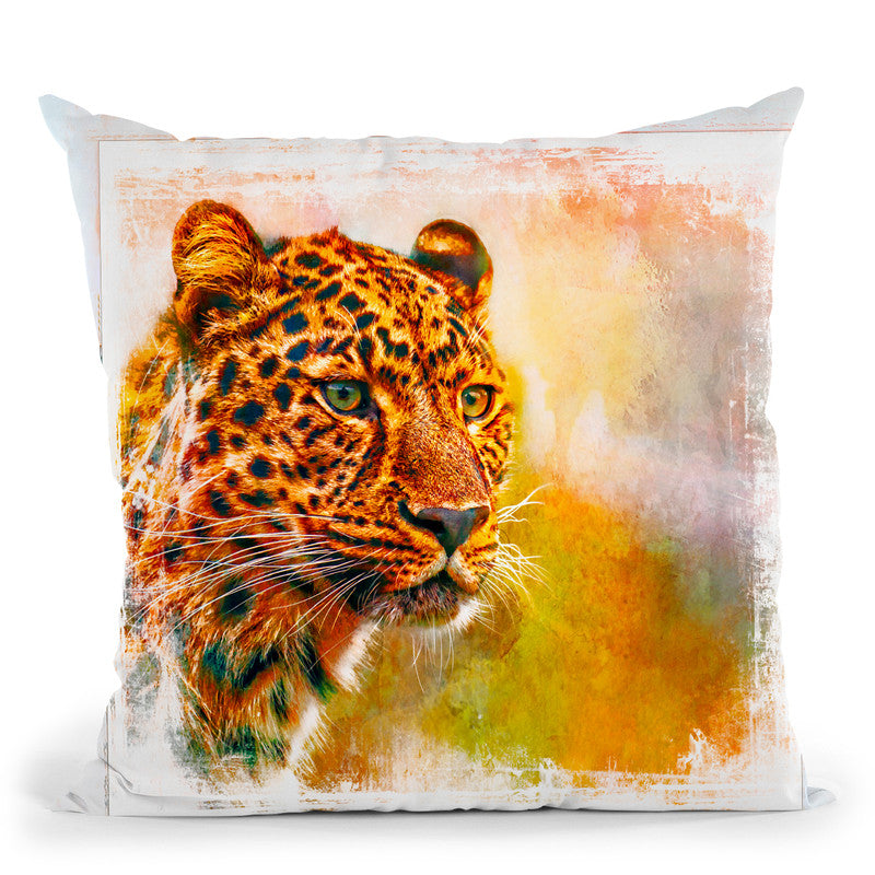Cheetah Throw Pillow By Andrea Haase