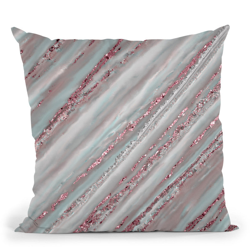 Glamour Stripes Marble Throw Pillow By Andrea Haase