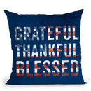 Greateful Thankful Blessed Throw Pillow By Andrea Haase