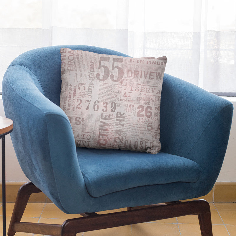 Grunge Newspaper Iii Throw Pillow By Andrea Haase