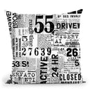 Grunge Text White Throw Pillow By Andrea Haase