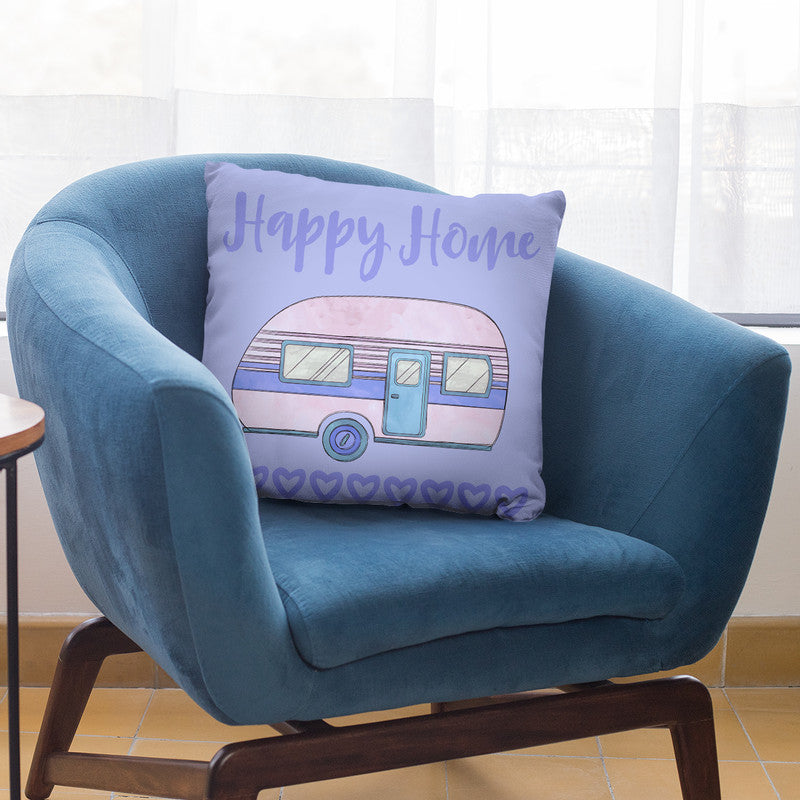 Happy Home Throw Pillow By Andrea Haase