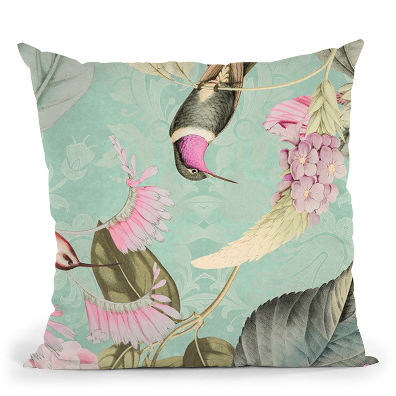 Im Paradies Hummingbird Viiii Throw Pillow By Andrea Haase