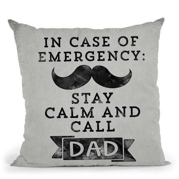 In Case Of Emergency Throw Pillow By Andrea Haase