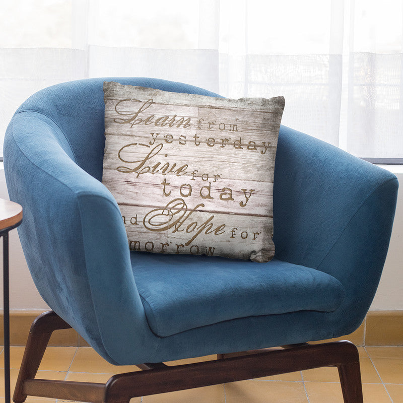 Learn From Today Throw Pillow By Andrea Haase