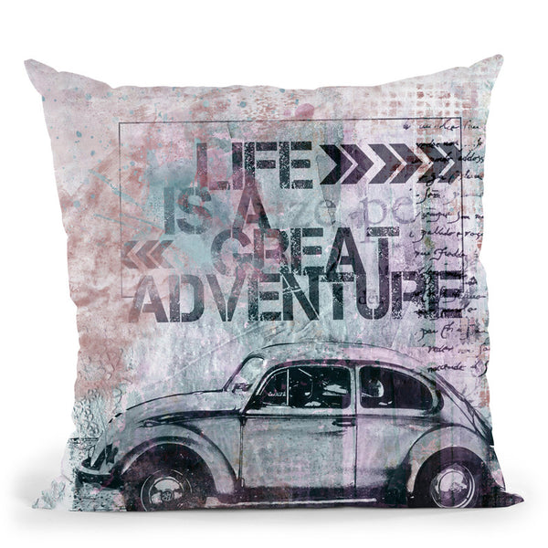 Life Is A Great Adventure I Throw Pillow By Andrea Haase