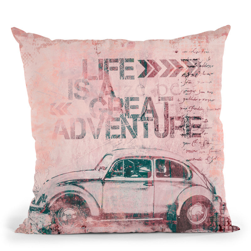 Life Is A Great Adventure Throw Pillow By Andrea Haase