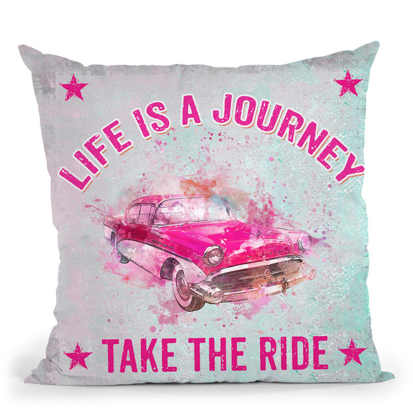 Life Is A Journey Throw Pillow By Andrea Haase