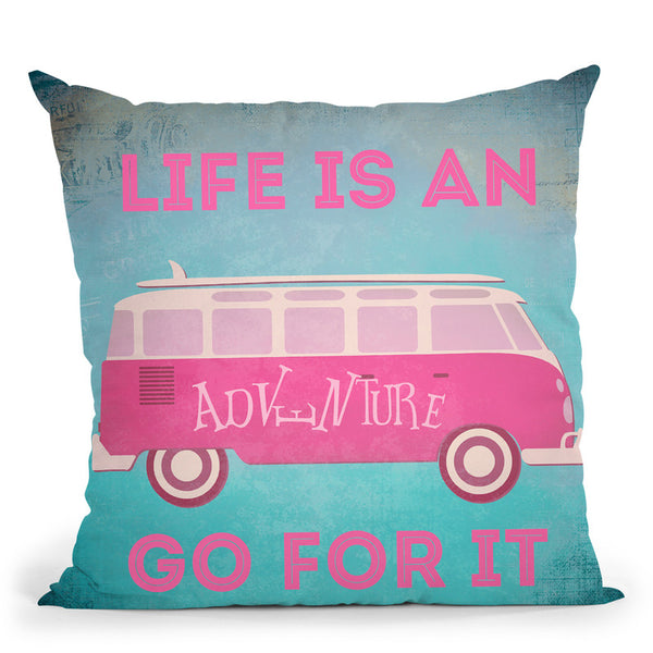 Life Is An Adventure Throw Pillow By Andrea Haase