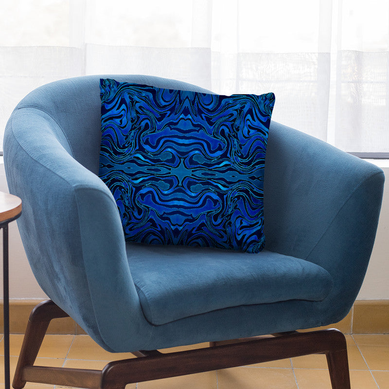 Liquid Glamour Blue Tile Throw Pillow By Andrea Haase