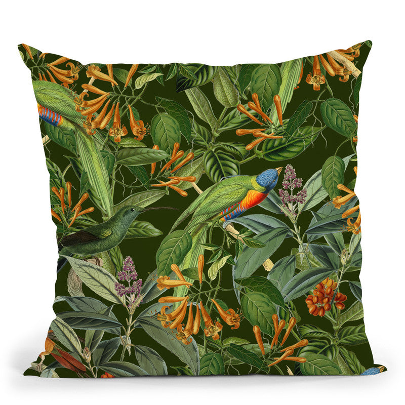 Lorikeets Throw Pillow By Andrea Haase
