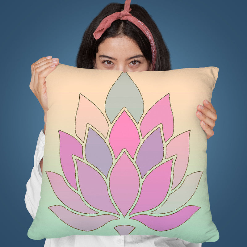 Lotus Flower Throw Pillow By Andrea Haase