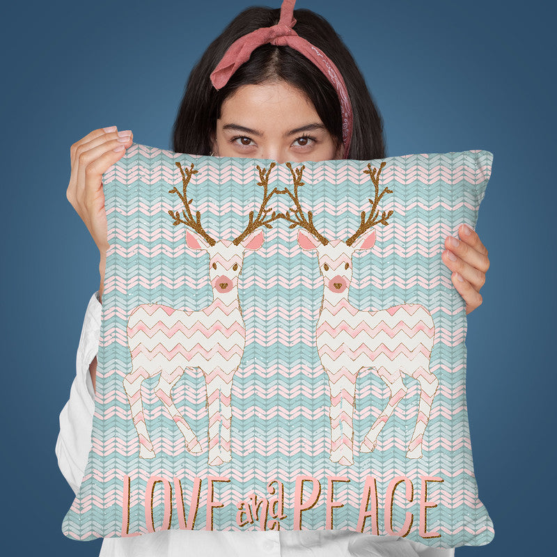 Love And Peace Throw Pillow By Andrea Haase