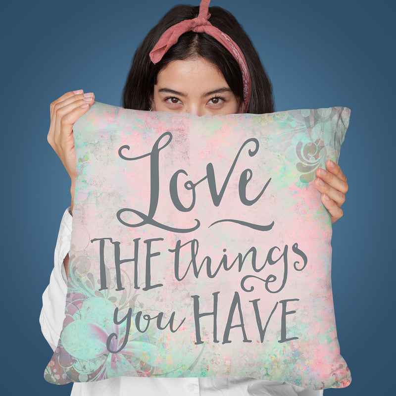 Love The Things Throw Pillow By Andrea Haase
