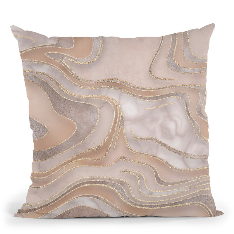 Marble Apricot Throw Pillow By Andrea Haase