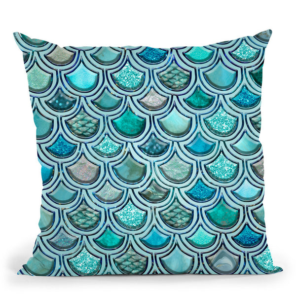 Mermaid Blue Iii Throw Pillow By Andrea Haase