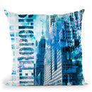 Metro Blue Throw Pillow By Andrea Haase