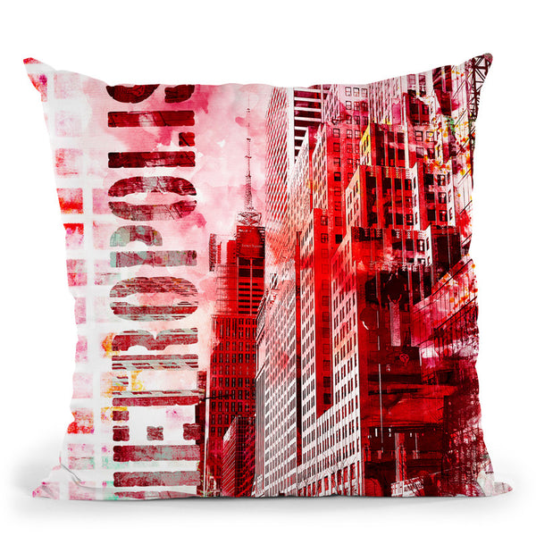 Metro Red Throw Pillow By Andrea Haase