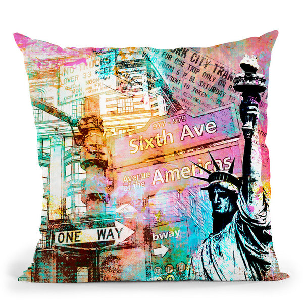 New York City Throw Pillow By Andrea Haase