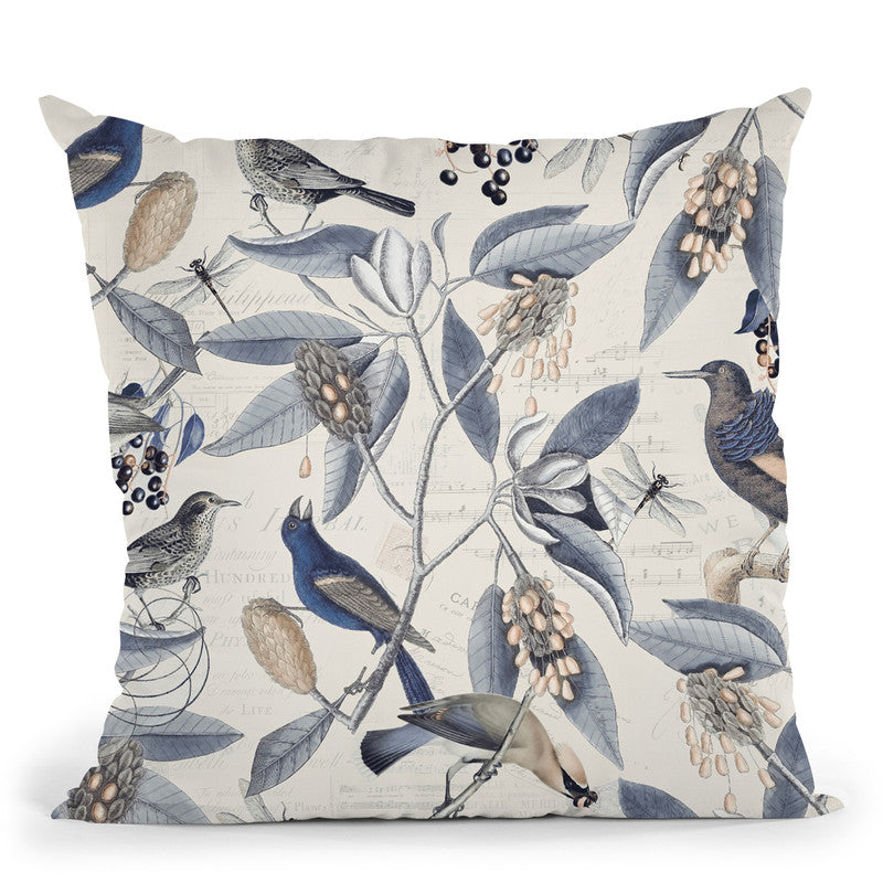 Nostalgic Bird Pattern Iii Throw Pillow By Andrea Haase