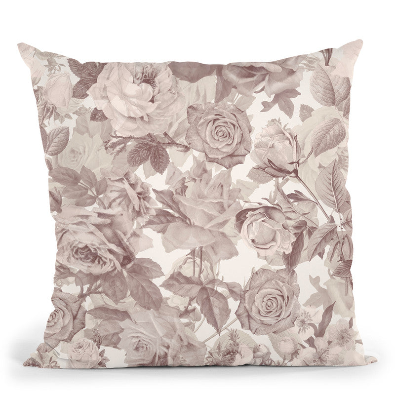 Nostalgic Kitsch Pattern I Throw Pillow By Andrea Haase