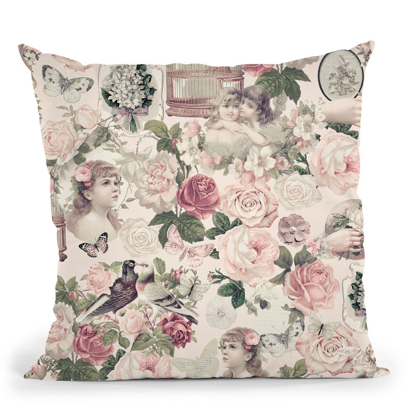 Nostalgic Kitsch Pattern Ii Throw Pillow By Andrea Haase