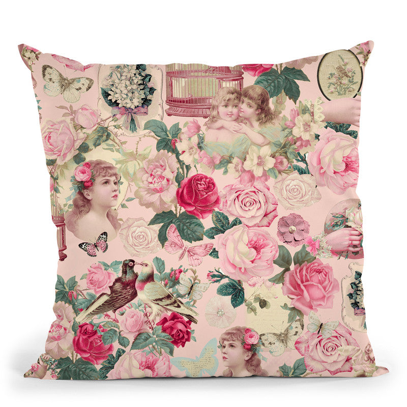 Nostalgic Kitsch Pattern Iii Throw Pillow By Andrea Haase