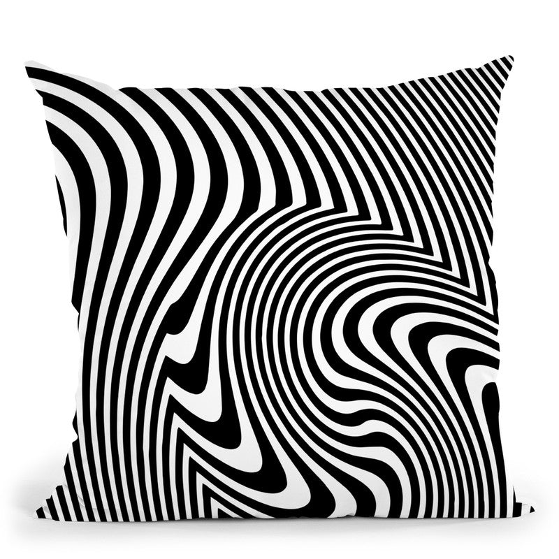 Op Art Throw Pillow By Andrea Haase