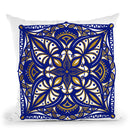 Oriental Tiles Blue Gold Iii Throw Pillow By Andrea Haase