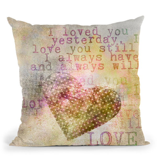 Painted Heart Throw Pillow By Andrea Haase