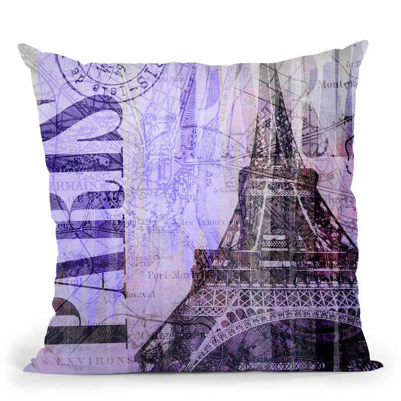 Paris Throw Pillow By Andrea Haase
