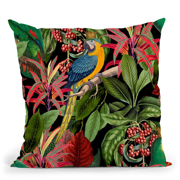 Parrot King Throw Pillow By Andrea Haase
