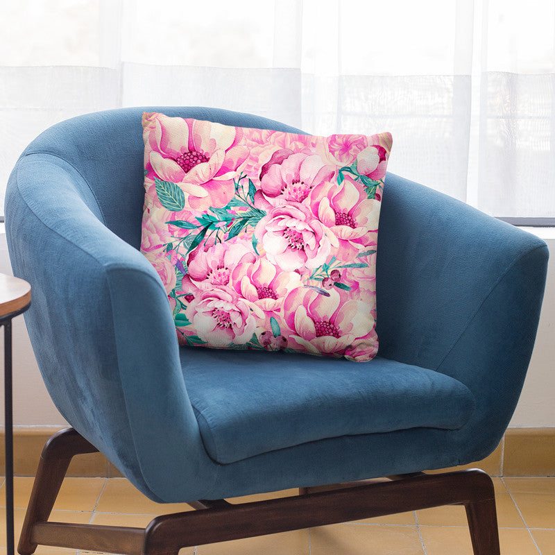 Pastel Pink Watercolor Flowers Throw Pillow By Andrea Haase