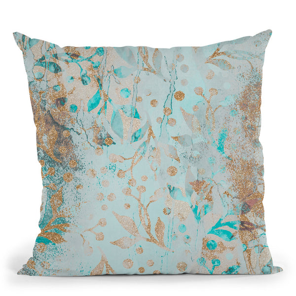Pattern Pastel Glitter Throw Pillow By Andrea Haase