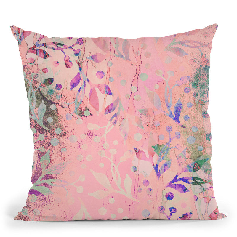 Pattern Pastel Pink Throw Pillow By Andrea Haase